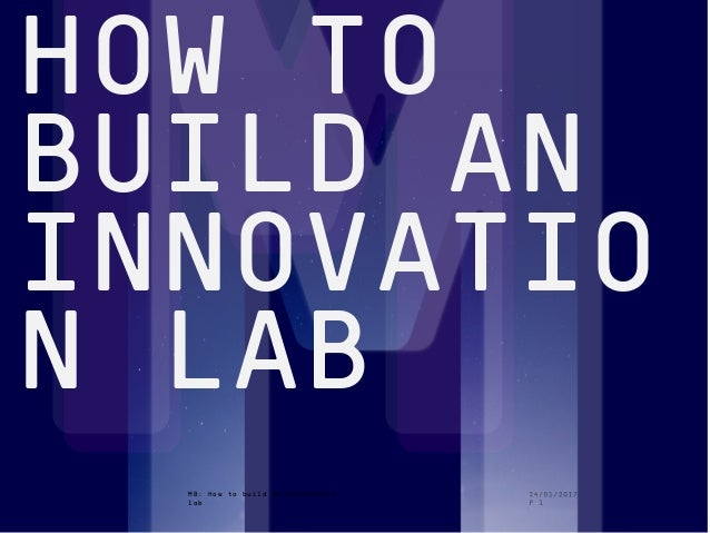1508™ MB: How to build an innovation lab HOW TO BUILD AN INNOVATIO N LAB