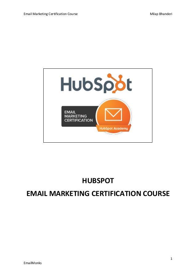 Hubspot Academy Email Marketing Certification Sdjnnews
