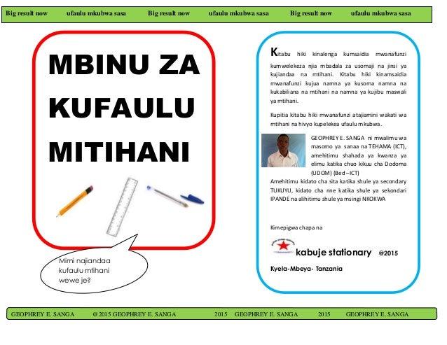 Big result now ufaulu mkubwa sasa Big result now ufaulu mkubwa sasa Big result now ufaulu mkubwa sasa MBINU ZA KUFAULU MIT...