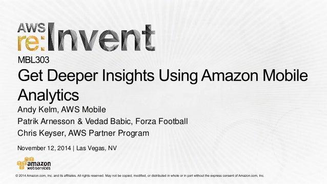 November 12, 2014 | Las Vegas, NV  Andy Kelm, AWS Mobile  PatrikArnesson& VedadBabic, ForzaFootball  Chris Keyser, AWS Par...