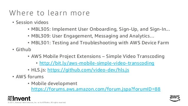 integrating video in mobile apps and websites - mbl308 - re:invent 20…, Presentation templates