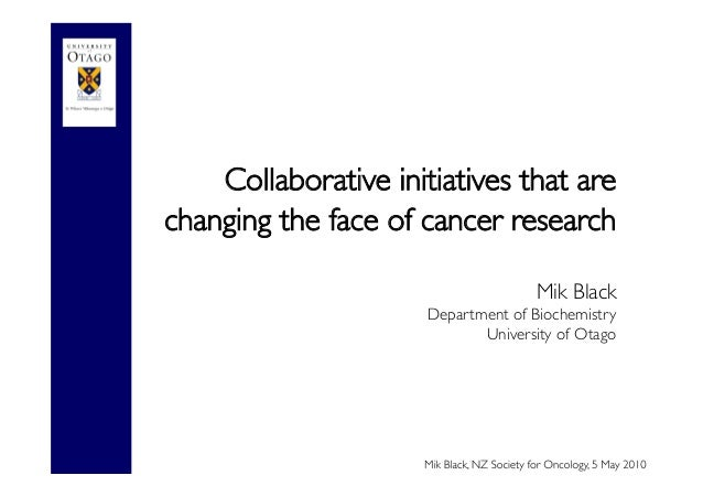 Collaborative initiatives that are changing the face of cancer research