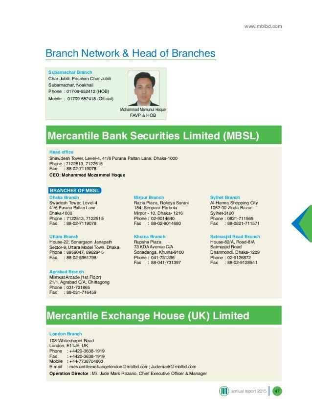 mercantile bank branches in dhaka