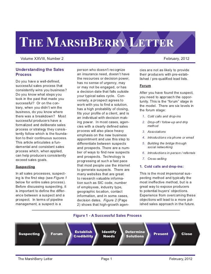 THE MARSHBERRY LETTER   Volume XXVIII, Number 2                                                                      Febru...