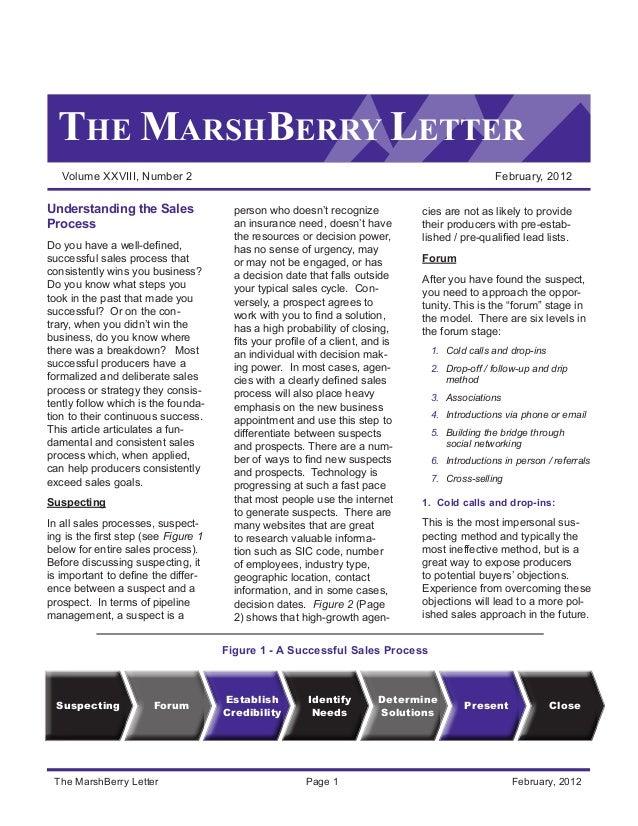 THE MARSHBERRY LETTER Volume XXVIII, Number 2 February, 2012 The MarshBerry Letter Page 1 February, 2012 Understanding ...