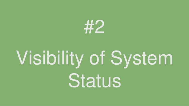 Visibility of System Status #2