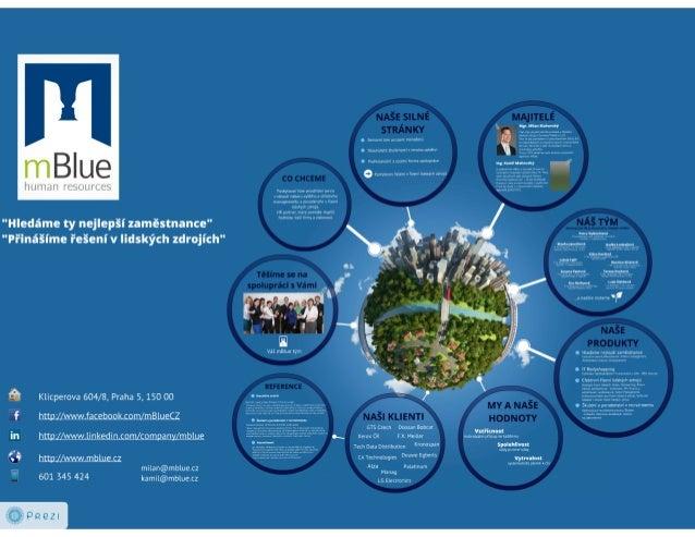 mBlue představení společnosti Slide 2