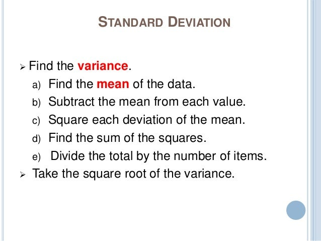how to find change in standard deviation