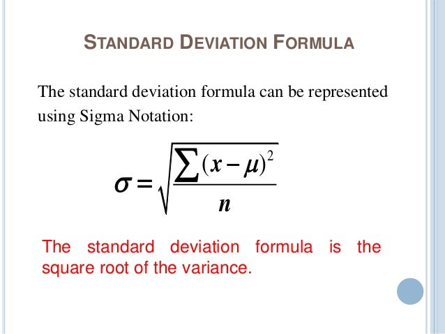 Variance and standard deviation standard deviation formula ccuart Image collections