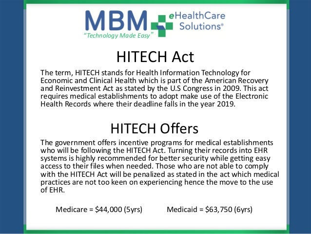 MBM eHealthCare Solutions HIPAA-HITECH & Meaningful Use ...