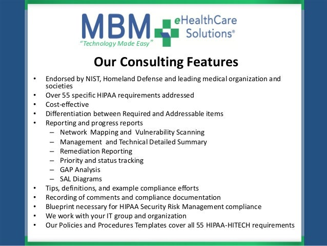Mbm ehealthcare solutions hipaa hitech meaningful use for Hipaa hitech policy templates