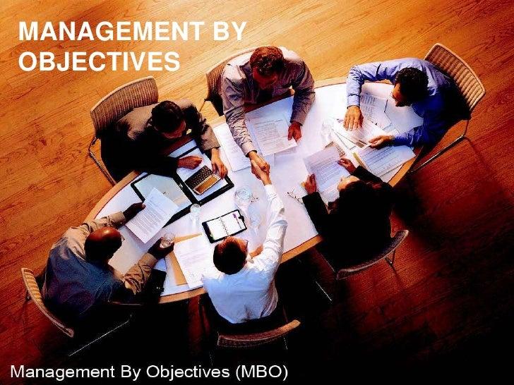 MANAGEMENT BYOBJECTIVES