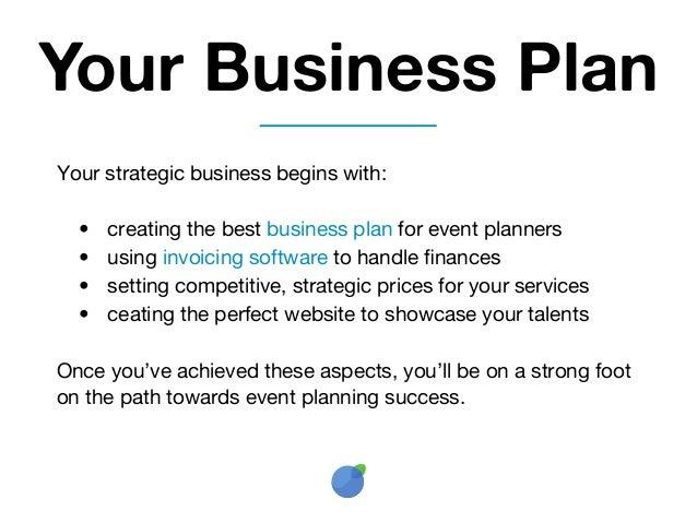 event planner business plan