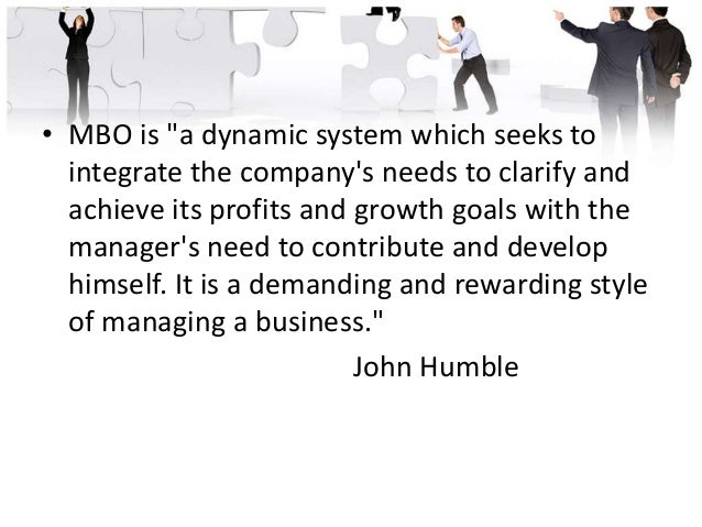 MBO Strategy: Three Basic Parts • All individuals within an organization are assigned a special set of objectives that the...