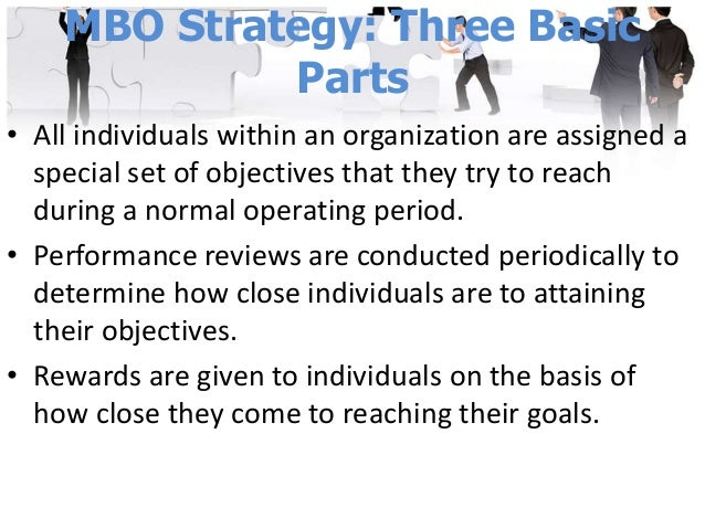 Principles of MBO • Cascading of organizational vision, goals and objectives • Specific objectives for each member • Parti...