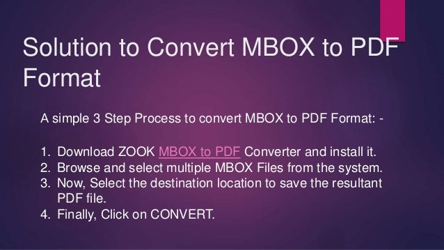 How to Batch Convert MBOX to PDF Format?