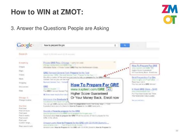 How to WIN at ZMOT:4. Optimize for ZMOT                       In 2011, only   21%         of                       website...