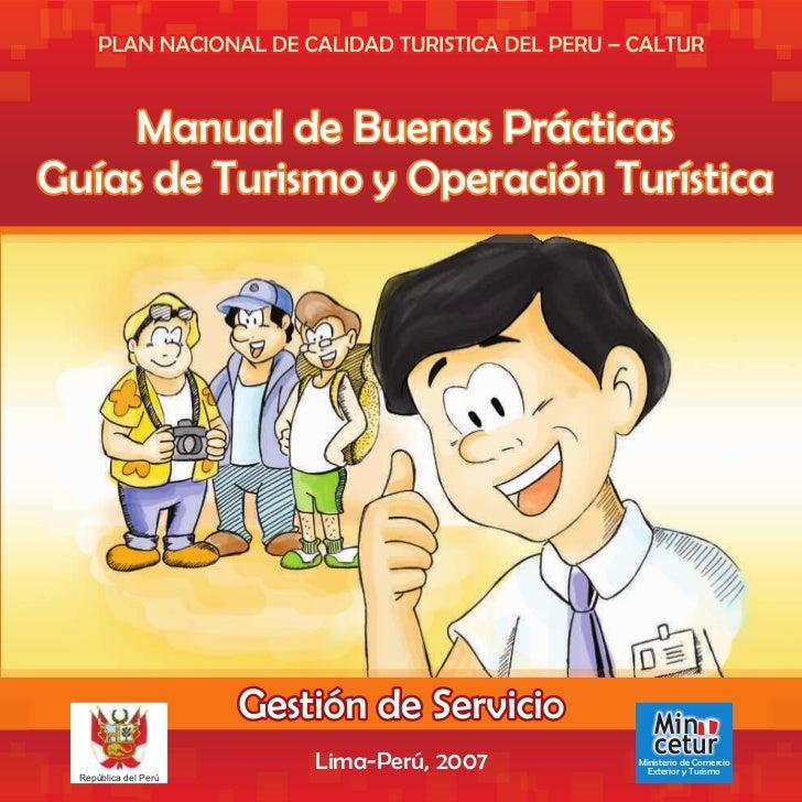 Manual de Buenas PrácticasGuías de Turismo y Operación Turística                                            Min           ...