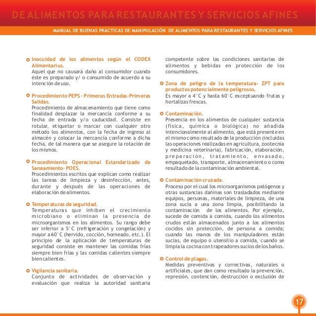 manual de buenas pr cticas de manipulaci n de alimentos