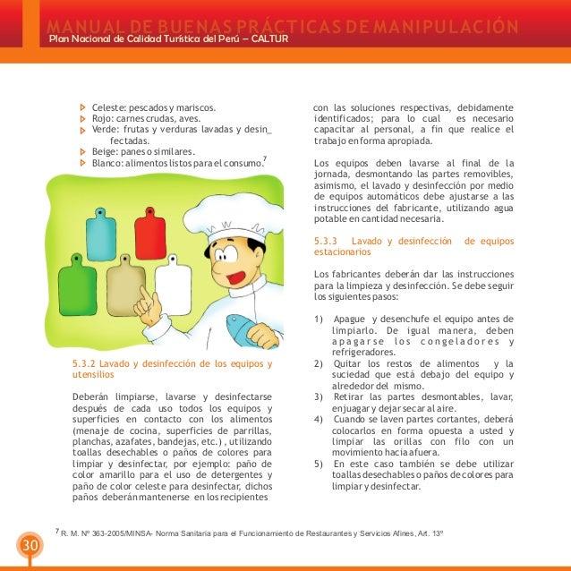Manual de buenas pr cticas de manipulaci n de alimentos for Manual de limpieza y desinfeccion en restaurantes