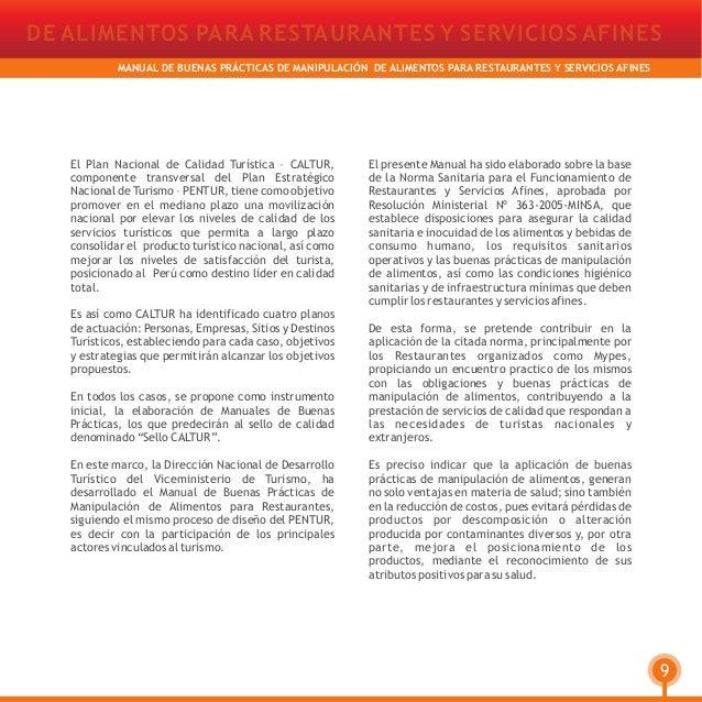 Manual de Buenas Prácticas de Manipulación de Alimentos para Restaura…