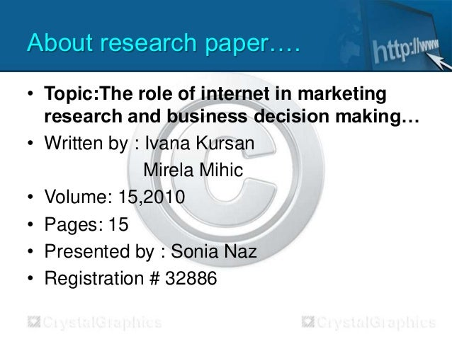 research paper in internet marketing
