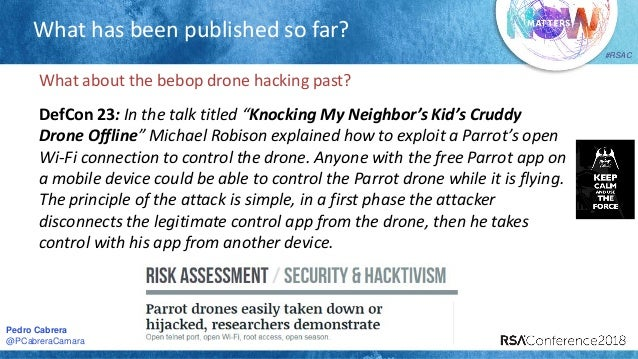 Parrot Drones Hijacking