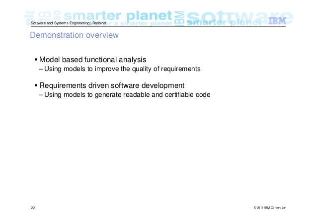 Model Based Systems And Software Engineering An Overview Of The Ibm R U2026
