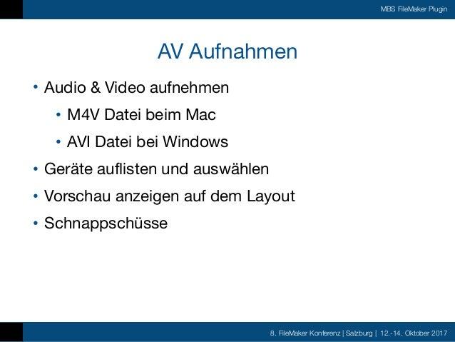 FMK2017 - MBS FileMaker Plugin by Christian Schmitz
