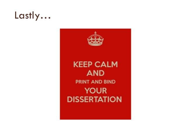 Surviving your dissertation