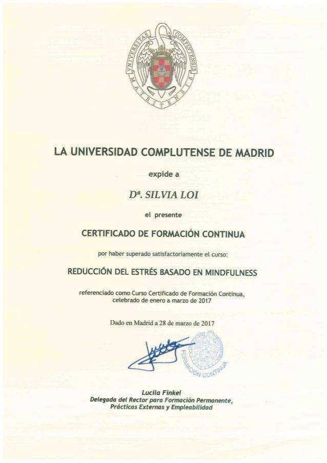madrid complutense certificate mbsr loi silvia university slideshare