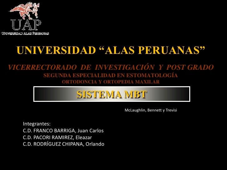 """UNIVERSIDAD """"ALAS PERUANAS""""VICERRECTORADO DE INVESTIGACIÓN Y POST GRADO           SEGUNDA ESPECIALIDAD EN ESTOMATOLOGÍA   ..."""