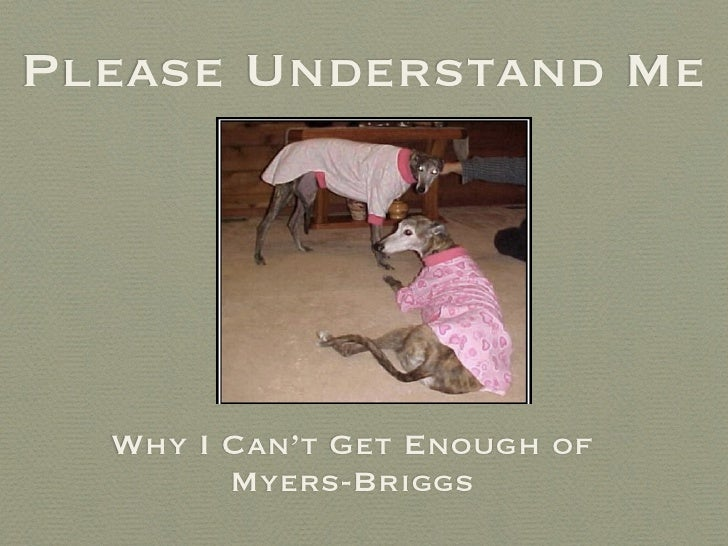 Please Understand Me  Why I Can't Get Enough of        Myers-Briggs