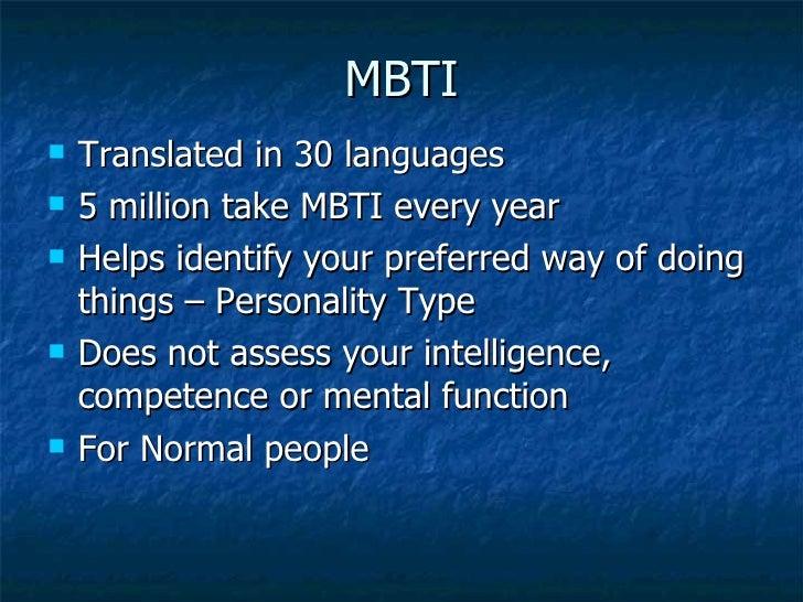 Mbti Languages