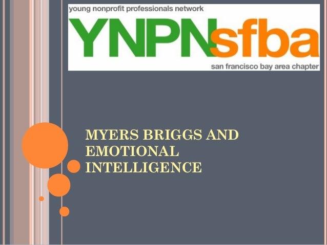 MYERS BRIGGS ANDEMOTIONALINTELLIGENCE