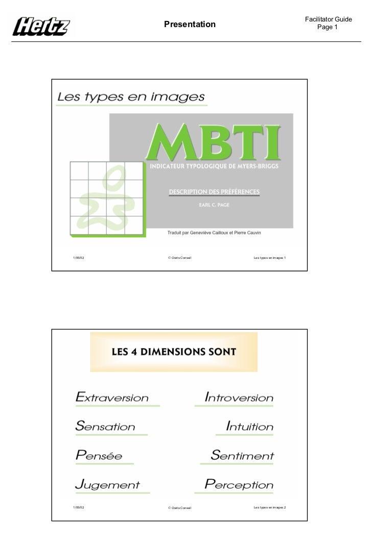 Facilitator Guide          Presentation                                   Page 11/05/02    Osiris Conseil   Les types en ...