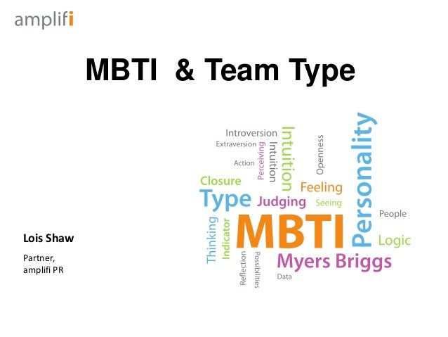 MBTI & Team TypeLois ShawPartner,amplifi PR