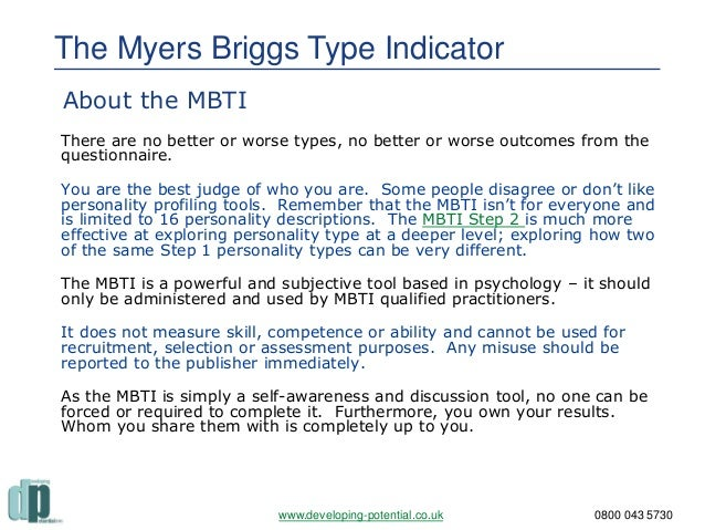 the myer briggs type indicator Take the official myers briggs test and personality assessment to explore career, relationship, and personal guidance based on your mbti personality type.
