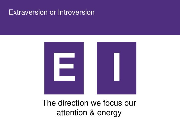 Extraversion or Introversion
