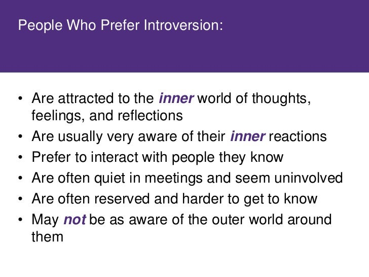 Where do you prefer to focus your attention? Where do you get energy?   • Review the characteristics of Extraversion and  ...