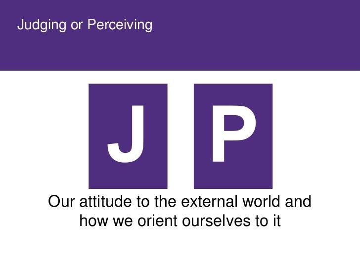 Judging or Perceiving