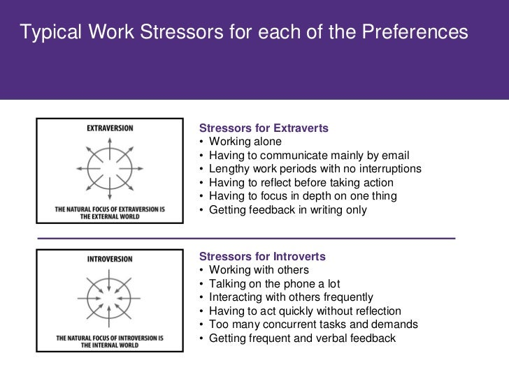 Typical Work Stressors for each of the Preferences                        Stressors for Intuitive Types                   ...