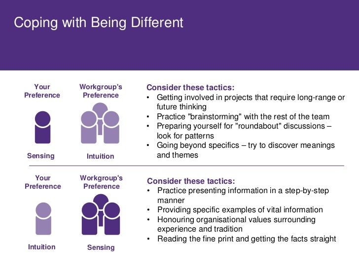 Coping with Being Different        Your      Workgroup's   Consider these tactics:  Preference    Preference   • Working o...