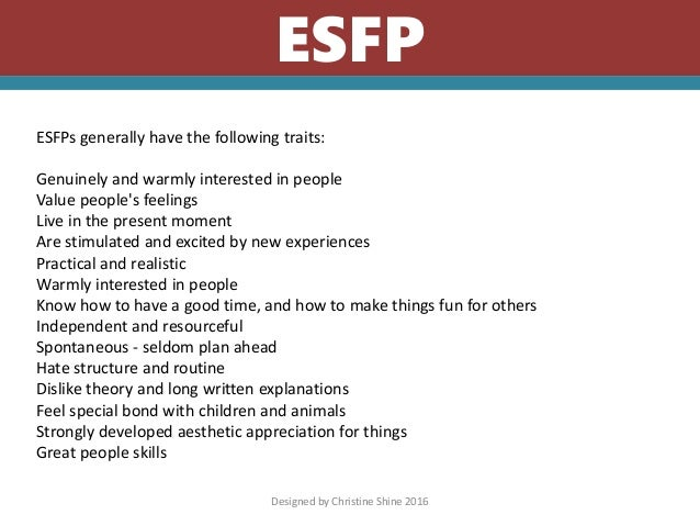 Esfp And Infp