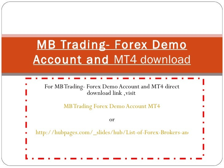 Free forex demo account mt4