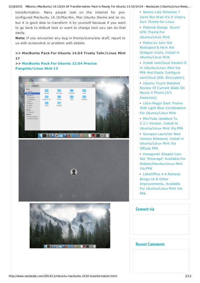 M buntu (mac buntu) 14 10_14 04 transformation pack is ready for ubun…