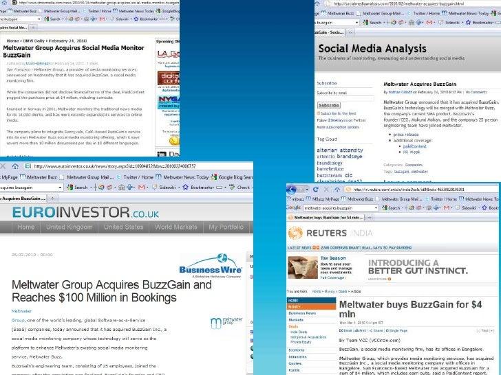 Core business – News media monitoring</li></ul>New businesses<br />Financials<br /><ul><li>Social Media Monitoring