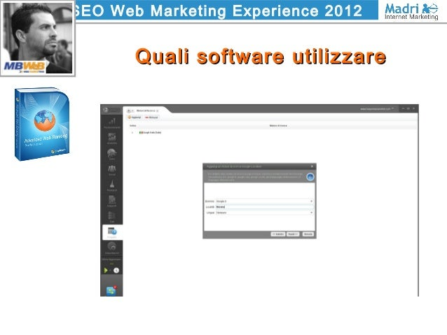 SEO Web Marketing Experience 2012 Quali software utilizzareQuali software utilizzare