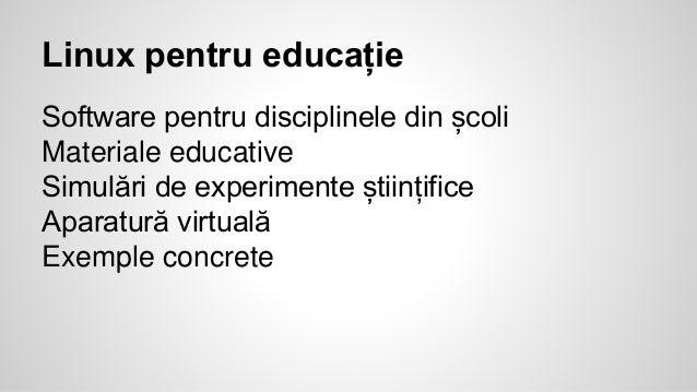 Linux pentru educatie
