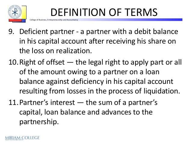 Definition of a liquidating loan